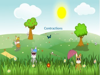 Contractions with a bunny background