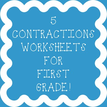Contractions worksheets for 1st grade