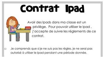 Contrat Ipad
