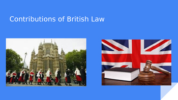 Contributions of British Law to the Founding of the U.S. G