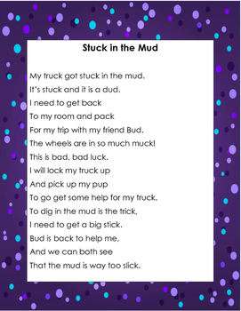 Controlled Reading Poem for Digraph -ck With Comprehension