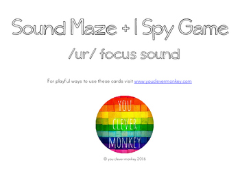 Controlled 'ur' Sound Maze and I Spy Game