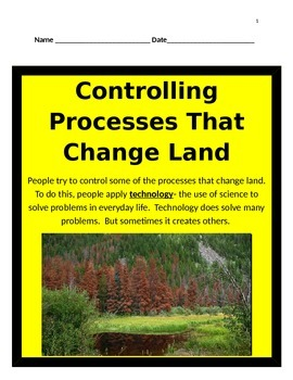 Controlling Processes That Change Land INTERACTIVE NOTES -