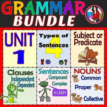 Grammar Bundle Unit 1 Sentences
