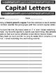 Conventions - Capital Letter, Punctuation, Proper Nouns an