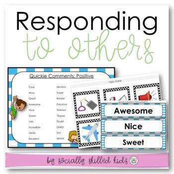 SOCIAL SKILLS: Conversation Skills ~ Responding To Others