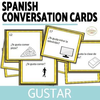 Conversation Cards- Gustar