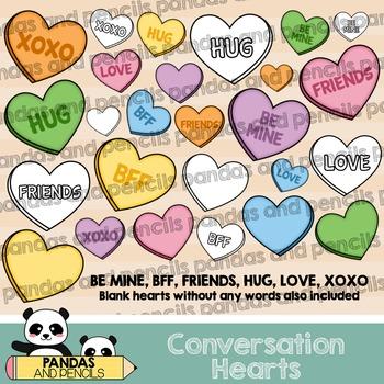 Valentine's Day Conversation Hearts Clip Art
