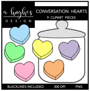Conversation Hearts {Graphics for Commercial Use}