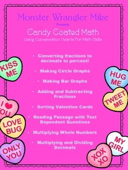 Conversation Hearts Valentine's Math Activity with Reading