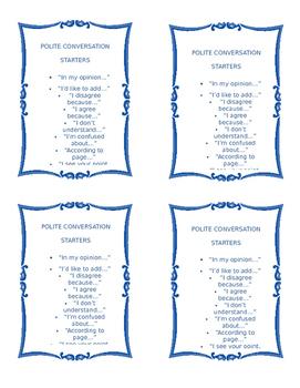 Conversation Starter Cards
