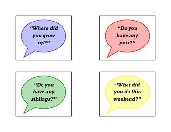 Conversation Starters Cards
