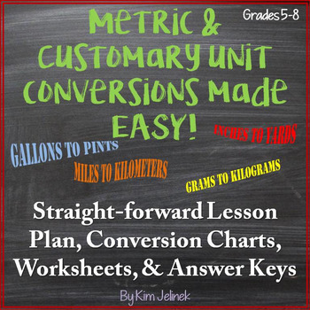 Metric & Customary Unit Conversions Made Easy! Handout, Co