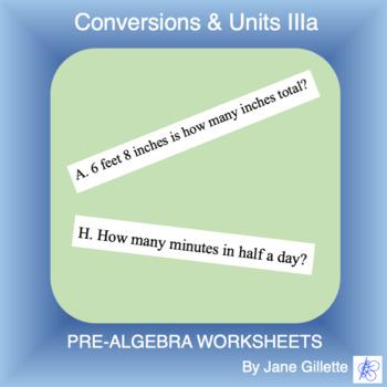 Conversions & Units IIIa