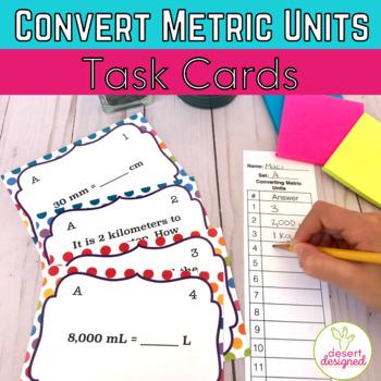Convert Metric Units Task Cards