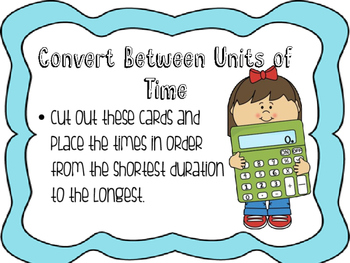 Converting Between Units of Time