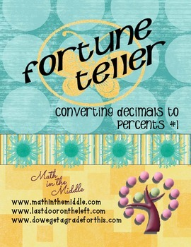 Converting Decimals to Percents Fortune Teller #1