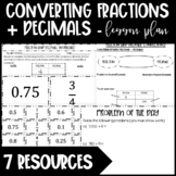 Converting Fractions + Decimals - Long Division for Termin