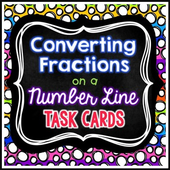 Converting Fractions on a Number Line