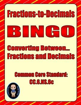 Fractions-to-Decimals Bingo