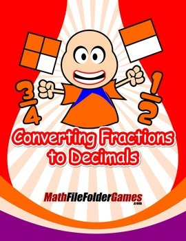 Converting Fractions to Decimals {Math Game}