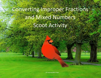 Converting Improper Fractions and Mixed Numbers Scoot Acti