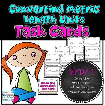 Converting Metric Length Units Task Cards