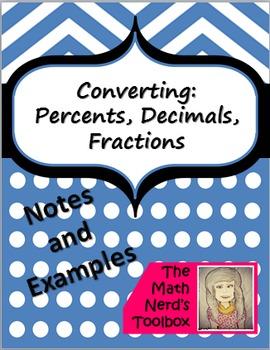 Converting--Percents, Decimals, Fractions