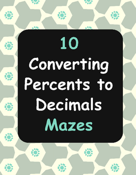 Converting Percents to Decimals Maze