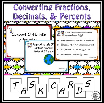 Converting Rational Numbers Task Cards