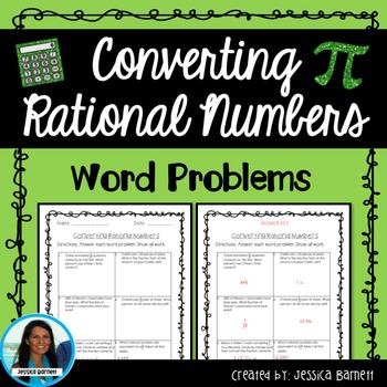 Converting Rational Numbers Word Problems