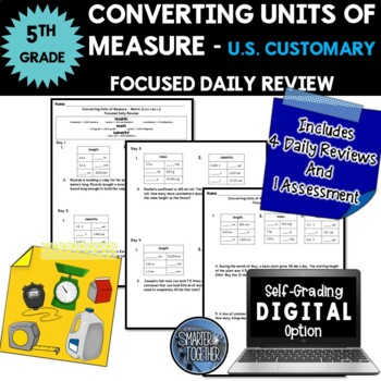 Converting Units of Measure - Customary Units - Focused Da