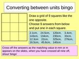 Converting between units bingo