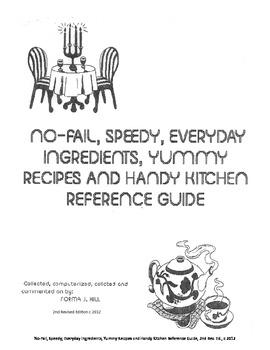 Cookbook: No-Fail, Speedy, Everyday Ingredients, Recipes &