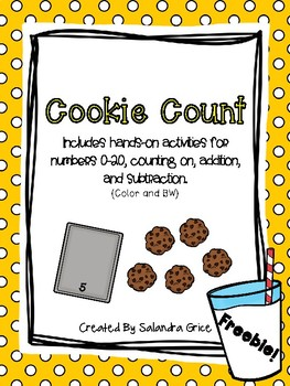 Cookie Count-Numbers 0-20, Counting On, Addititon and Subt