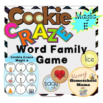 Cookie Craze Magic E - Word Family Game for Word Families