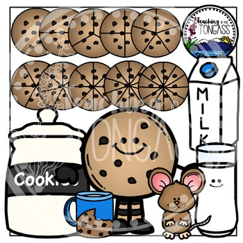 Cookie Clipart and Cookie Fractions Clipart Bundle