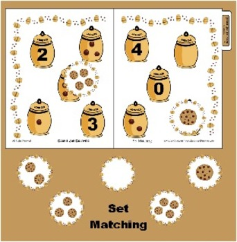 Cookie Jar Counting - Set Matching 0-4 - Great for Prescho