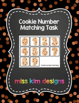 Cookie Number Matching Folder Game for students with Autism
