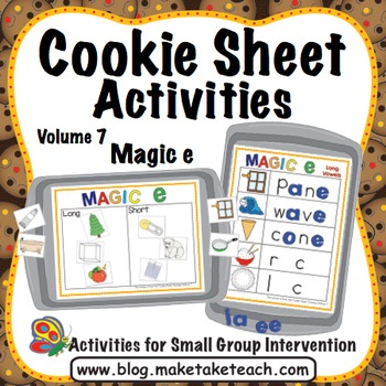 Magic e - Cookie Sheet Activities Volume 7