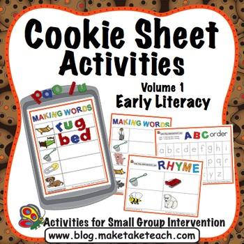 ABC Order, Rhyme, Making Words - Cookie Sheet Activities Volume 1