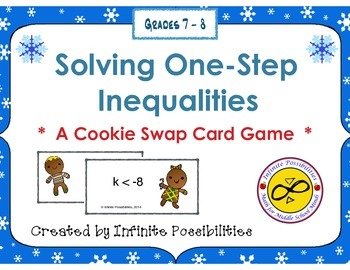 Solving One Step Inequalities Cooperative Card Game