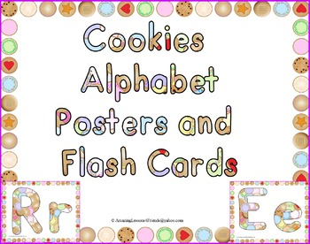 Cookies Alphabet Posters and Flash Cards