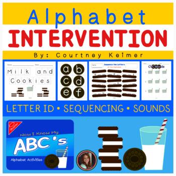 Cookies & Milk Alphabet Activities {Letter Identification,