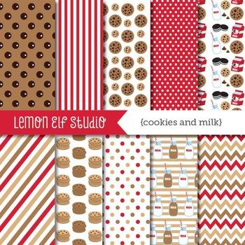 Cookies and Milk-Digital Paper (LES.DP42A)