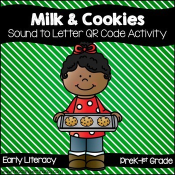 Cookies and Milk Initial Sound QR Code Activity in English