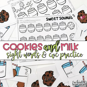 Cookies and Milk: Sight Words and CVC Practice