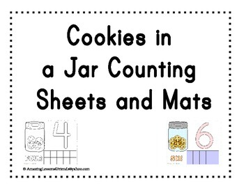 Cookies in a Jar counting Sheets and Mats