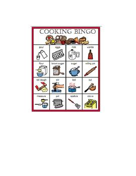 Cooking BINGO