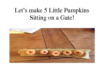 Cooking Halloween Theme- 5 Little Pumpkins Sitting on a Gate